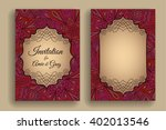 vintage invitation template.... | Shutterstock .eps vector #402013546
