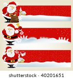 christmas banners with friendly ...