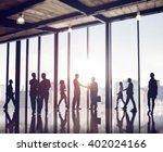 back lit business people... | Shutterstock . vector #402024166