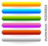 horizontal banner  button... | Shutterstock .eps vector #402030826