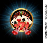 casino  composition with... | Shutterstock .eps vector #402030832