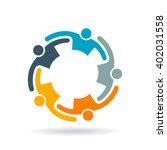 teamwork collaboration people...   Shutterstock .eps vector #402031558