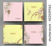 grapes ornament vector brochure ... | Shutterstock .eps vector #402039562