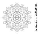 decorative mandala illustration ... | Shutterstock .eps vector #402047518