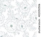 vintage flower seamless pattern ... | Shutterstock .eps vector #402050506