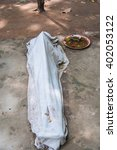A Covered Corpse Human Dead