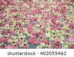 lotus flower and burning... | Shutterstock . vector #402055462