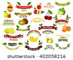 fruits design elements for... | Shutterstock .eps vector #402058216