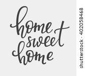 home sweet home vector... | Shutterstock .eps vector #402058468