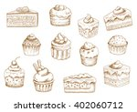 sketches of scrumptious... | Shutterstock .eps vector #402060712
