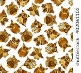 cartoon seamless pattern of... | Shutterstock .eps vector #402061102