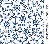 retro nautical seamless pattern ... | Shutterstock .eps vector #402062446