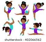 gymnastics cute multicultural ... | Shutterstock . vector #402066562