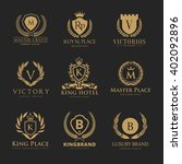 crests luxury logo set  brand... | Shutterstock .eps vector #402092896