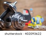 sport equipment. sneakers ... | Shutterstock . vector #402093622