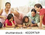 extended family group playing... | Shutterstock . vector #40209769