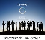updating software technology... | Shutterstock . vector #402099616