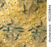 Embroidery Of Yellow Flower An...