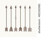 camping symbols. big set of... | Shutterstock .eps vector #402102382