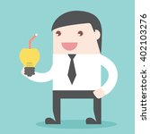 businessman refresh idea with... | Shutterstock .eps vector #402103276