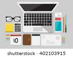 business flat lay | Shutterstock .eps vector #402103915