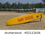Small photo of Surd rescue sign in Anjuna, Goa, India