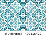 traditional ornate portuguese... | Shutterstock .eps vector #402116422
