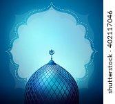 islamic design banner... | Shutterstock .eps vector #402117046