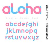 font vector with blue and pink... | Shutterstock .eps vector #402117985
