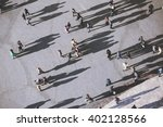 view on people from the tower... | Shutterstock . vector #402128566