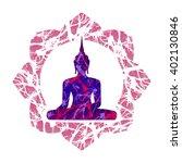 vector oriental illustration... | Shutterstock .eps vector #402130846