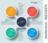 vector abstract 3d paper... | Shutterstock .eps vector #402132076