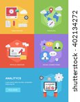 flat design style concepts for... | Shutterstock .eps vector #402134272