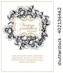 invitation with floral... | Shutterstock . vector #402136462