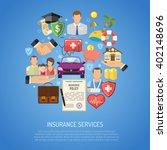 insurance services concept set... | Shutterstock .eps vector #402148696