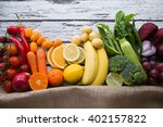 multicolored fresh fruits and... | Shutterstock . vector #402157822