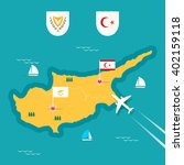 cyprus map in flat style | Shutterstock .eps vector #402159118