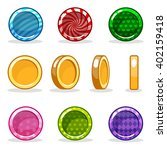 cartoon colorful glossy coin...   Shutterstock .eps vector #402159418