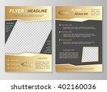 vector flyer template design.... | Shutterstock .eps vector #402160036