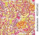 tracery seamless calming... | Shutterstock .eps vector #402169162
