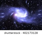 stars  dust and gas nebula in a ... | Shutterstock . vector #402173128