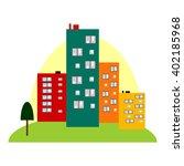 small city | Shutterstock .eps vector #402185968