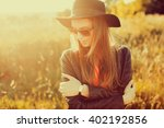 funny stylish sexy smiling... | Shutterstock . vector #402192856