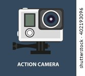 action camera logo. camera for... | Shutterstock .eps vector #402193096