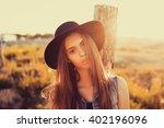 outdoor lifestyle portrait of... | Shutterstock . vector #402196096