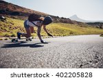 rear view of young woman... | Shutterstock . vector #402205828