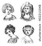 hairstyles women  1315 1320 ...   Shutterstock . vector #402211048