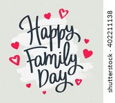 happy family day  excellent... | Shutterstock .eps vector #402211138