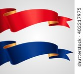 the set of red and blue ribbons ... | Shutterstock .eps vector #402217975