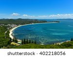 port stephens bay  view from... | Shutterstock . vector #402218056